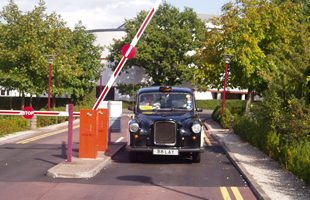 automatic gate barrier installed in a private property