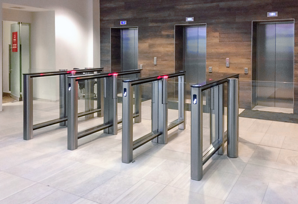 ST-01 turnstile installed in a building from perco