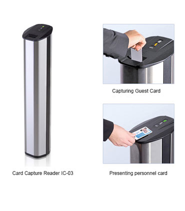 turnstile IC-03 card capture reader from perco