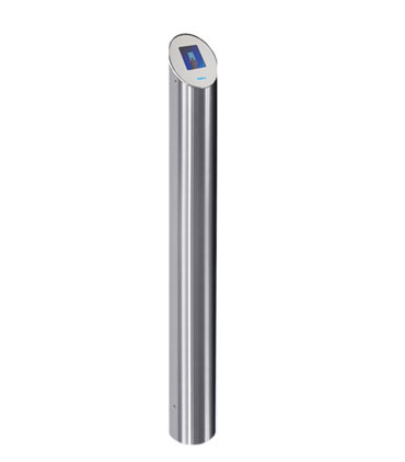 turnstile IRP-01 reader post with LCD display from perco